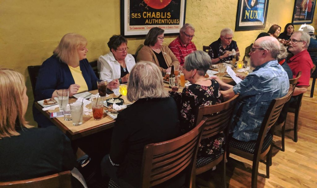 Members of Seward League at dinner meeting