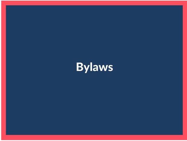 Bylaws sign