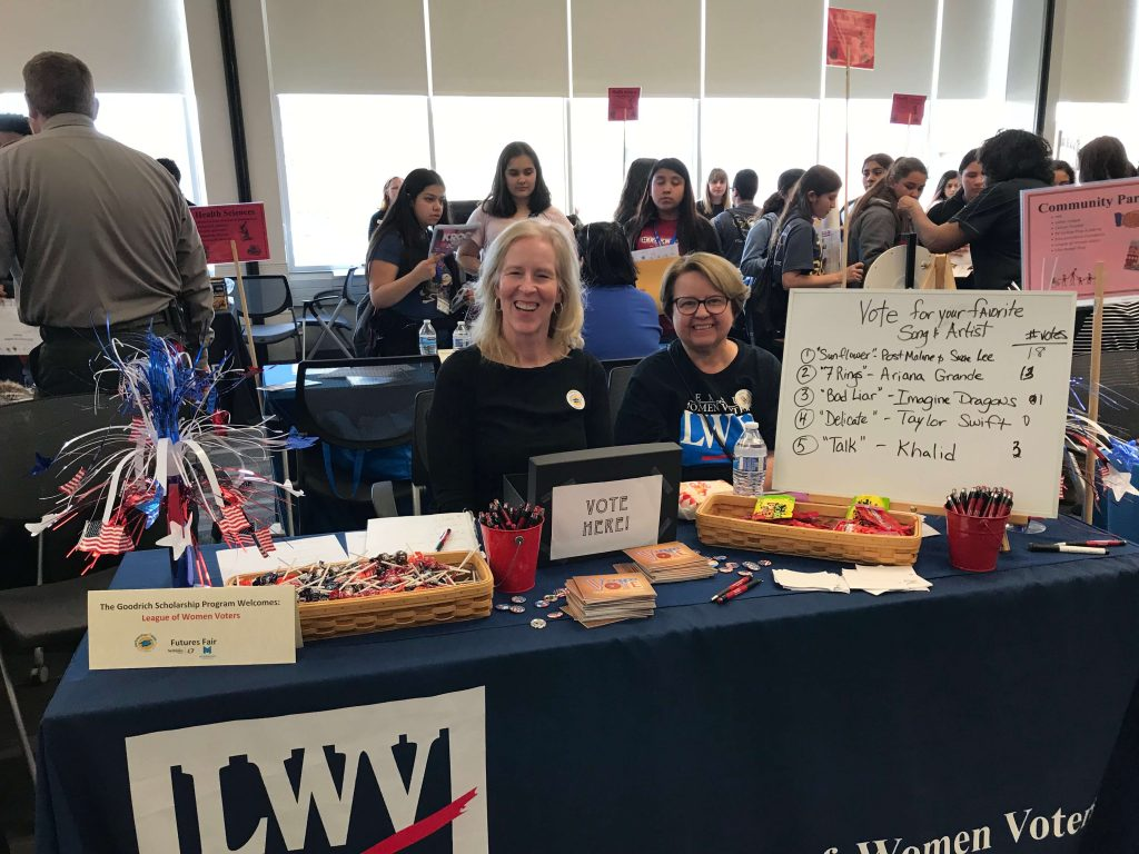 LWVGO members at youth voting event