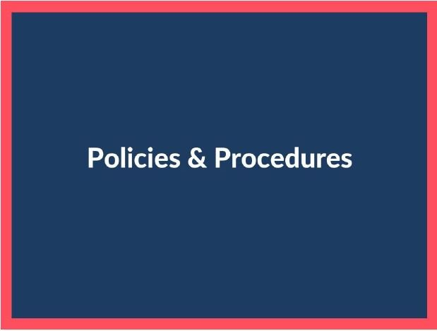 Policies & Procedures Sign