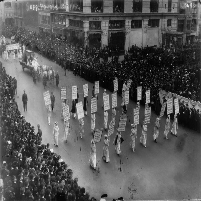 Suffrage March in the 1910s