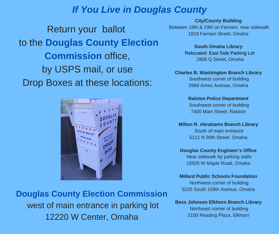 Douglas County drop box list