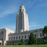 Picture of exterior view of the Nebraska state capitol