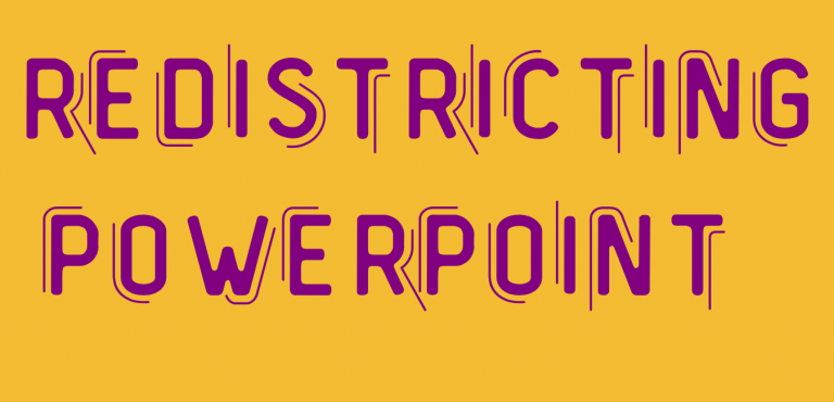 Redistricting powerpoint graphic