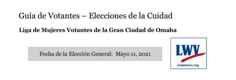 Omaha City 2021 Election Voters Guide in Spanish photo