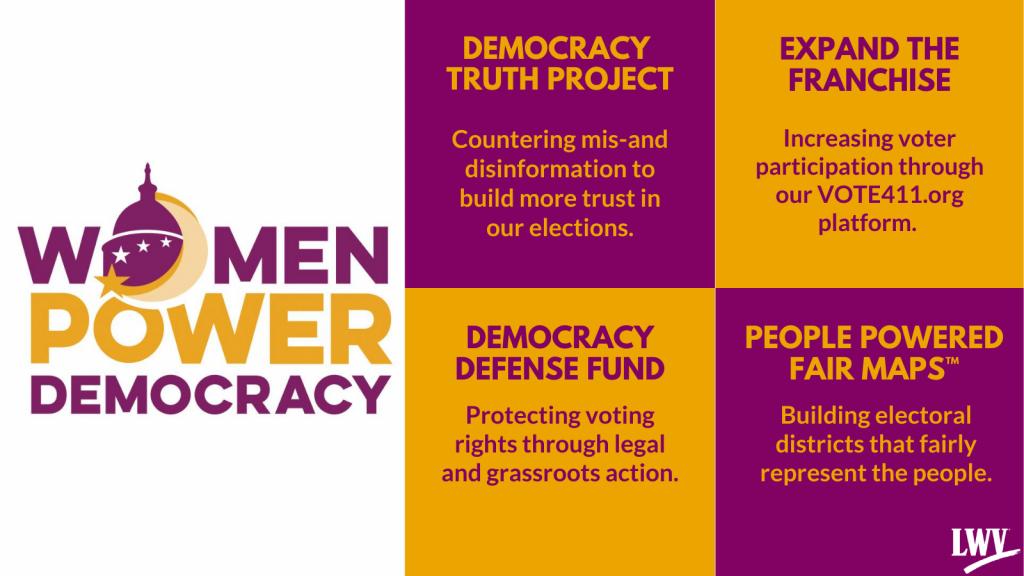 Women Power Democracy info graphic