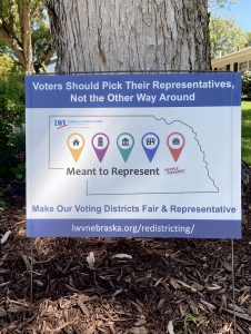 Picture of Meant to Represent redistricting yard sign